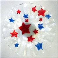 Red, White, and Blue Stars 7 inch Bowl