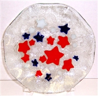Red, White, and Blue Stars 9 inch Bowl