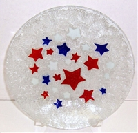 Red, White, and Blue Stars 9 inch Plate