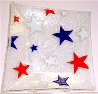 Red, White, and Blue Stars Large Square Plate