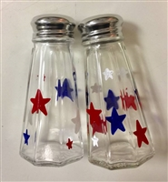 Red, White, and Blue Stars Salt and Pepper Shakers
