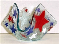 Red, White, and Blue Stars Small Candleholder