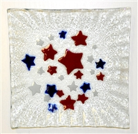 Red, White, and Blue Stars Small Square Plate