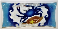 Rectangle Blue Claw Crab Plate