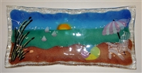 Rectangle Pastel Beach Scene Plate