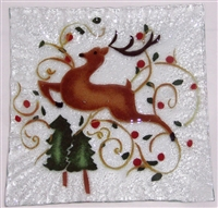 Reindeer Small Square Plate