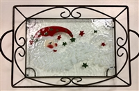Santa Moon Small Tray (with Metal Holder)