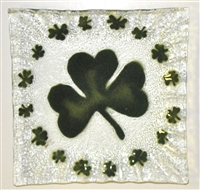Shamrock Small Square Plate