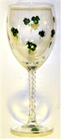 Shamrock White Wine Glass