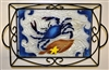 Small Blue Claw Crab Tray (with Metal Holder)
