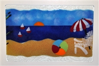 Small Bold Beach Scene Tray (Insert Only)