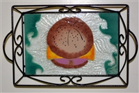 Small Pork Roll Tray (with Metal Holder)