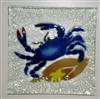 Small Square Blue Claw Crab Plate