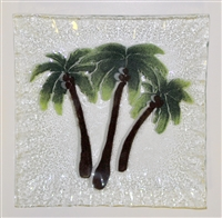Small Square Palm Tree Plate