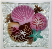 Small Square Sea Shell Plate