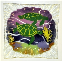 Small Square Sea Turtle Plate