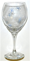 Snowflake Red Wine Glass