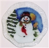 Snowman with Cardinal 9 inch Bowl
