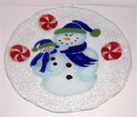 Snowman with Baby 12 inch Plate