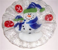 Snowman with Baby 7 inch Bowl