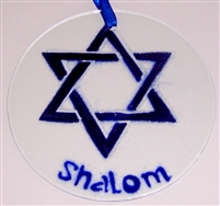 Star of David Shalom Suncatcher