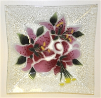 Stargazer Lily Large Square Plate