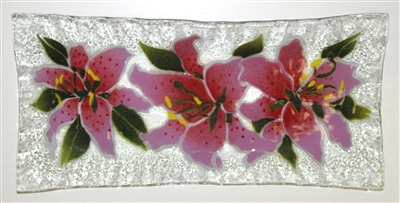 Stargazer Lily Rectangle Plate