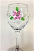 Stargazer Lily Red Wine Glass