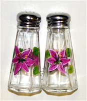Stargazer Lily Salt and Pepper Shakers