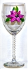 Stargazer Lily White Wine Glass