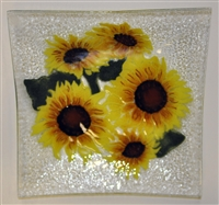 Sunflower Large Square Plate