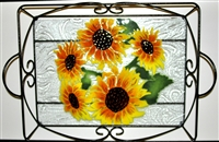 Sunflower Large Tray (with Metal Holder)