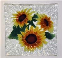 Sunflower Small Square Plate
