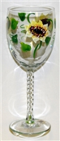 Sunflower White Wine Glass