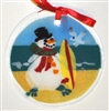 Surfboard Beach Snowman Suncatcher