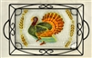 Turkey Small Tray (with Metal Holder)