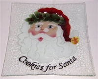 Victorian Santa Large Square Plate