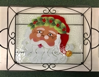 Victorian Santa Large Tray (with Metal Holder)