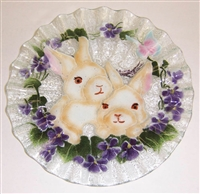 White Bunny 10.75 inch Plate
