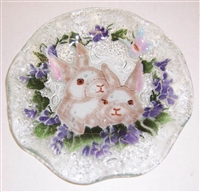 White Bunny 9 inch Bowl