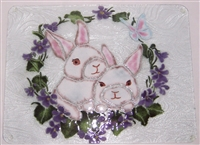 White Bunny Large Tray (Insert Only)
