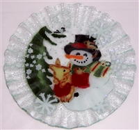 Woodland Snowman 10.75 inch Plate