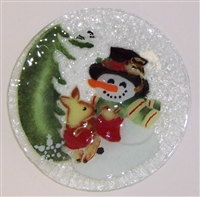 Woodland Snowman 9 inch Plate