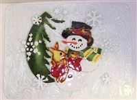 Woodland Snowman Large Tray (Insert Only)