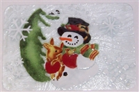 Woodland Snowman Small Tray (Insert Only)