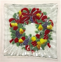 Williamsburg Wreath Small Square Plate