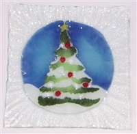Christmas Tree Small Square Plate