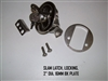 SLAM LATCH LOCKING 2   DIA. 16MM BK PLATE U SHAPED