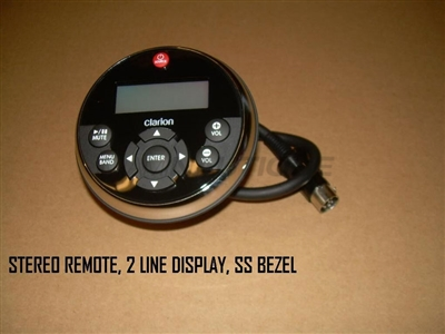 STEREO REMOTE 2 LINE DISPLAY SS BEZEL
