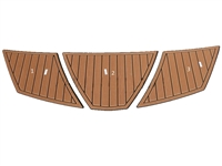 Faux Teak-3 Pc. Non-Skid Pads for Super Air Nautique 230 Small Platform